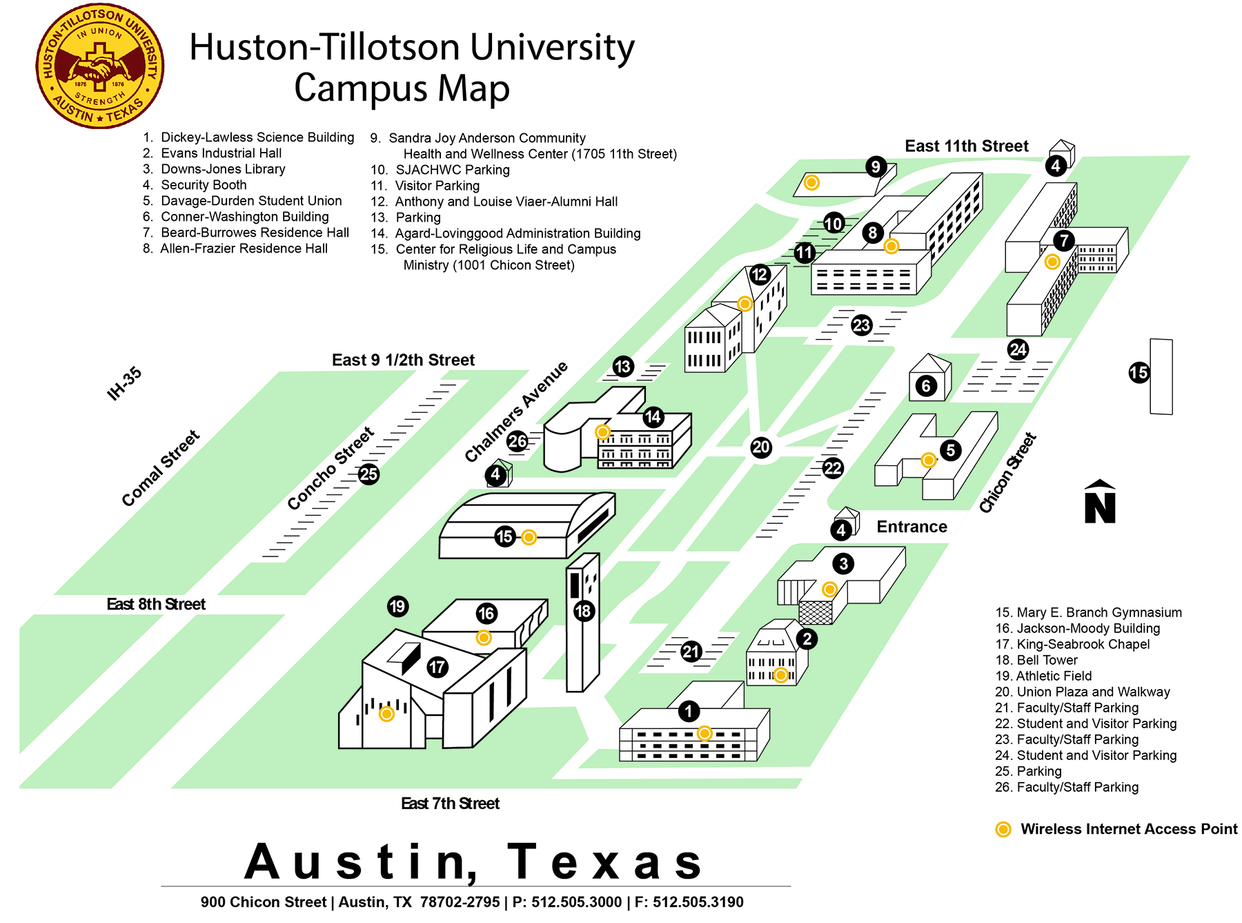 King University Campus Map.A U S T I N T E X A S