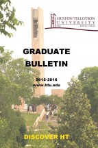 Huston-Tillotson University Graduate School Bulletin