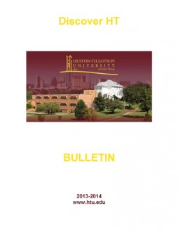 Huston_Tillotson_University_Bulletin_2013_2014 1Cover