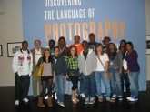 Professor Bryce North and his honors English class at the Harry Ransom Center November 2010
