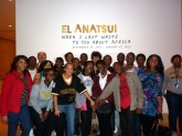 "First-year freshmen, whom attended the November 17th showing of ""When I Last Wrote to You about Africa,"" by artist El Anatsui, featured at the Blanton Museum"