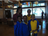DuBois Scholars Greet Mwangaza Children's Choir of Uganda
