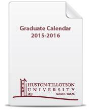Graduate Calendar