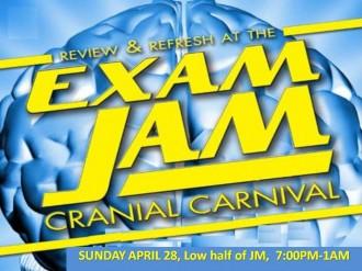 Exam Jam flyer
