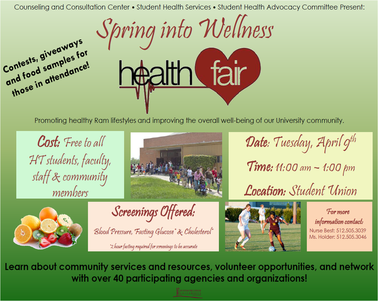 Spring into Wellness Health Fair « Huston-Tillotson