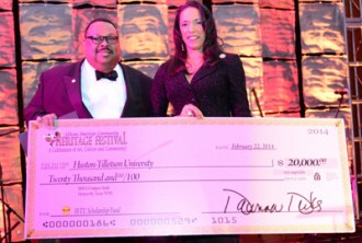 Dr. Larry L. Earvin, President and CEO and Dawnna Dukes