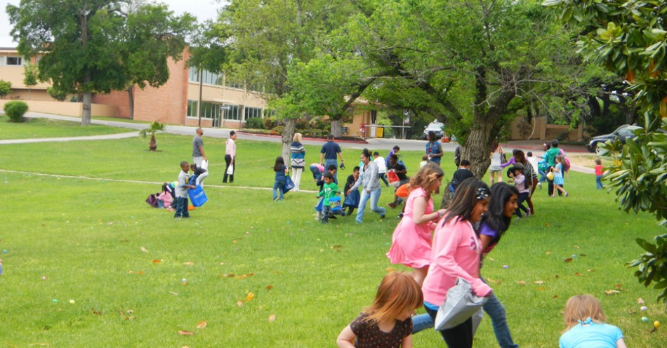 Annual Easter Egg Hunt Brings Neighborhood Children to Campus