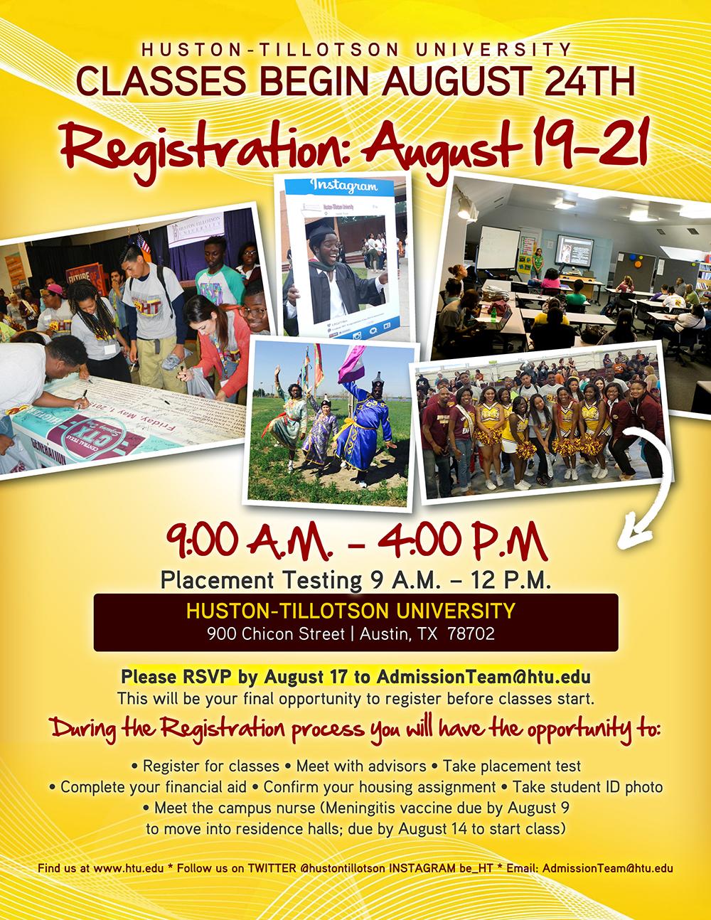 Aug 19-21 Registration