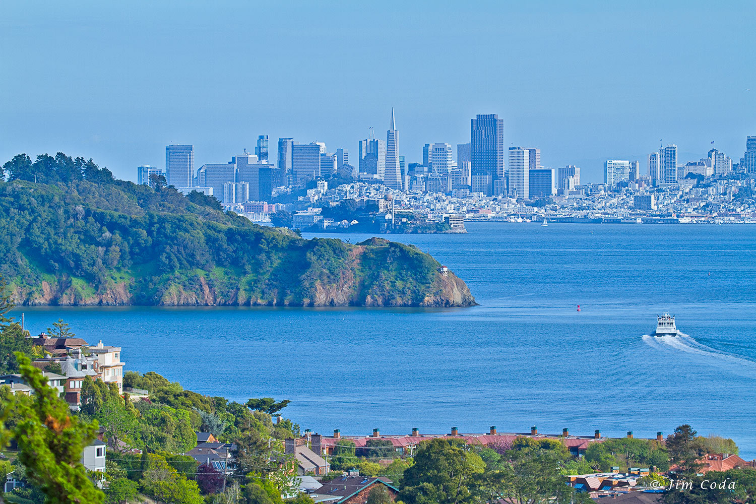 San Francisco Skyline from Tiburon, California