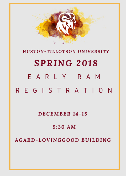 Spring 2018 Registration Flyer