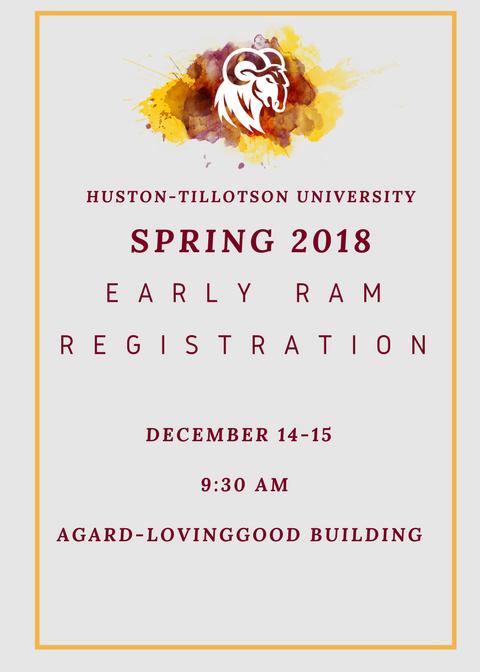 Spring 2018 Registration Flyer