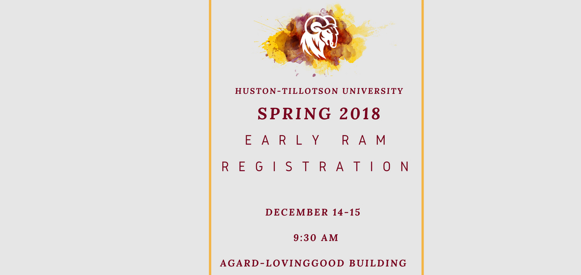 Spring 2018 Early Registration