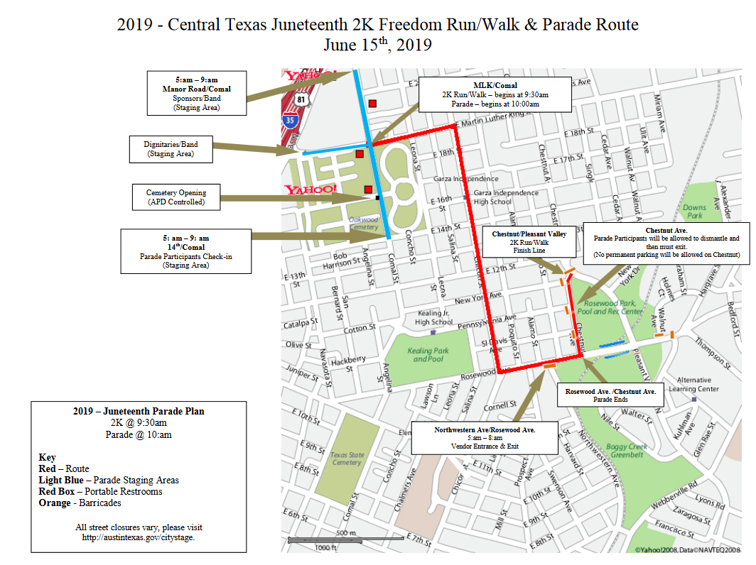Juneteenth Parade Route
