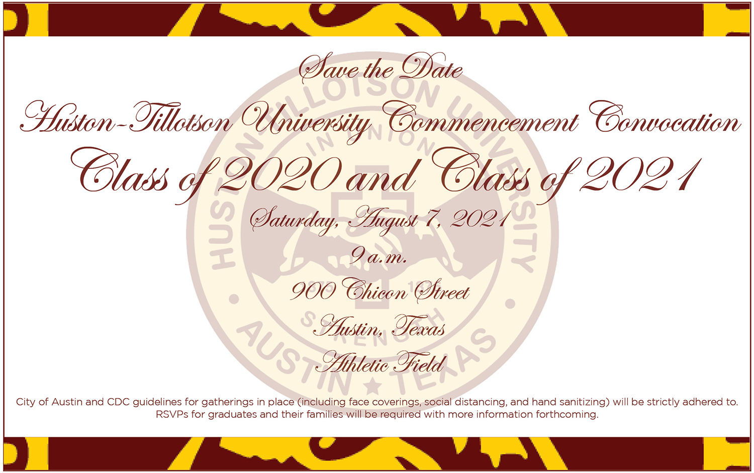 Commencement Save the Date