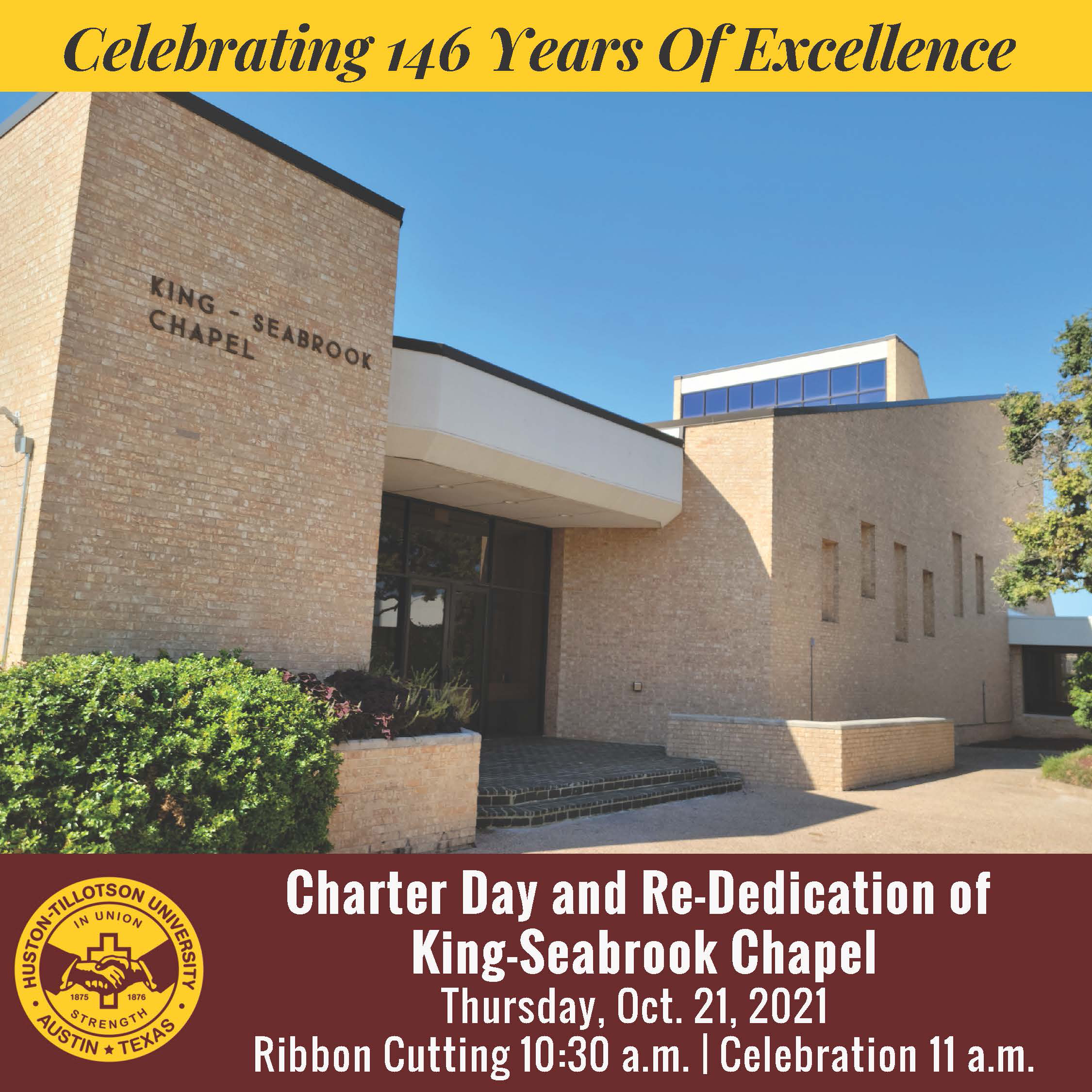Charter Day Convocation and King-Seabrook Chapel Dedication
