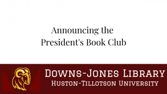 Thumbnail of a video introducing the President's Book Club. Click here to watch or listen to this two and a half minute video.
