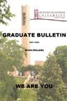 2021-22 Huston Tillotson University Graduate Bulletin