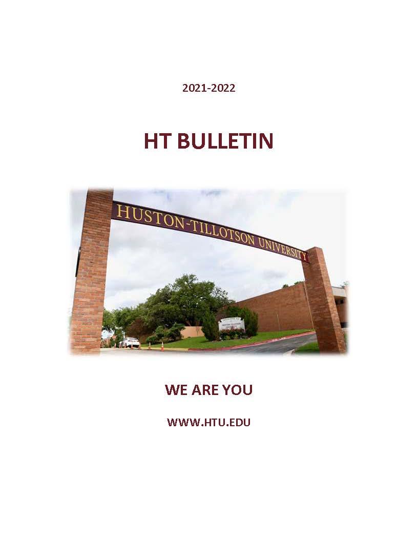 2021-2022 Huston Tillotson University Bulletin